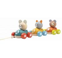 деревянная игрушка Поезд с животными