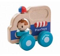 деревянная игрушка Спасательная машина