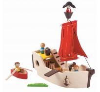 деревянная игрушка Пиратский корабль