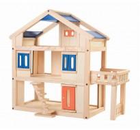 деревянная игрушка Кукольный домик с террасой