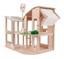 деревянная игрушка Зелёный кукольный домик