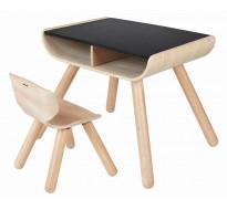 Стол и стул - чёрный