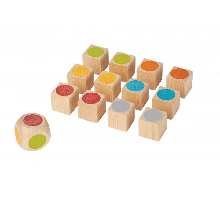 набор деревянных кубиков для развития памяти