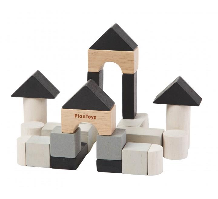 набор деревянных кубиков для строительства