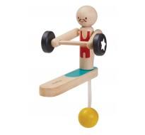деревянная игрушкаАкробат-штангист