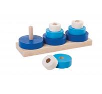 деревянная игрушка Три пирамидки