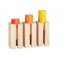 деревянная игрушка Блоки-сортеры –высота и глубина