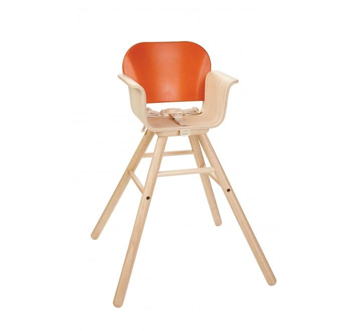 высокий деревянный Стульчик - оранжевый