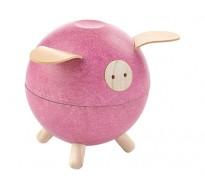 Свинка-копилка, розовая