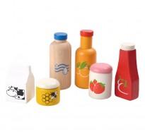 деревянная игрушка Набор продуктов и напитков