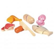 деревянная игрушка Набор мясных изделий