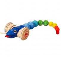 деревянная игрушка Каталка змея