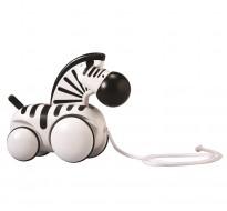 деревянная игрушка Каталка зебра