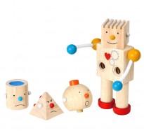 деревянная игрушка Конструктор робот