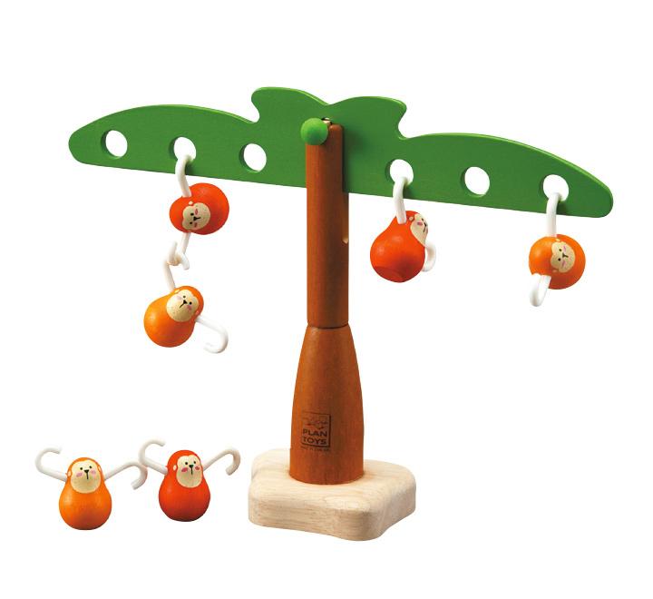 деревянная игрушка Балансирующие обезьяны