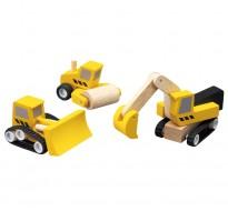 деревянная игрушка Набор дорожно-строительной техники