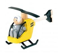 деревянная игрушка Вертолёт с пилотом