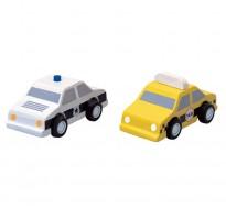 деревянная игрушка Машинки такси и полиция