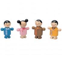деревянная игрушка Городская семья