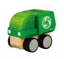 деревянная игрушка Мини-мусоровоз