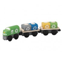 деревянная игрушка Поезд-мусоровоз