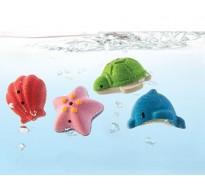 деревянная игрушка Набор морских животных для ванной